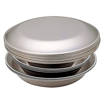 Image of Snow Peak TW-021F 's Tableware Set Family, 16 pcs, TW-021, Stainless Steel, Lightweight for Camping & Everyday Use, Made in Japan, Lifetime Product Guarantee, Large
