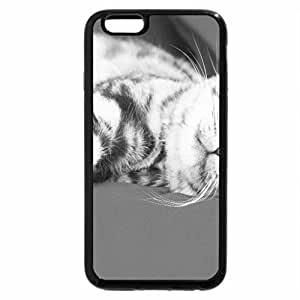iPhone 6S Case, iPhone 6 Case (Black & White) - Kitten
