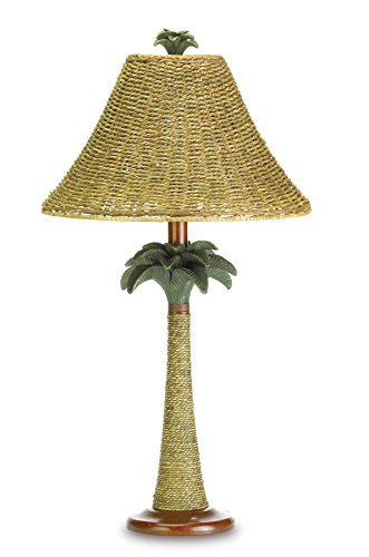 Koehler 37989 25.5 Inch Palm Tree Rattan Table Lamp (Palm Lamps)