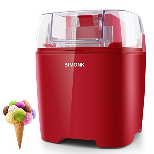 Ice Cream Maker, Detachable Frozen Bowl, Auto Shut-off Timer, 1.5 Quart, BPA Free Electric ice Cream Machine for Kids DIY Frozen Yogurt, Gelato Or Sorbet Maker