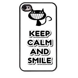 DD Keep Calm and Smile Design Aluminum Case for iPhone 4/4S