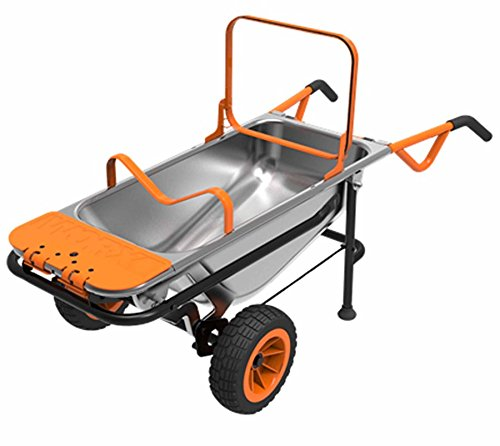 Worx-8-in-1-Aerocart-multifunktionale-Gartenschubkarre-Sackkarre-Schubkarre-inkl-umfangreichem-Zubehr-85l-Volumen-Schiebkarre