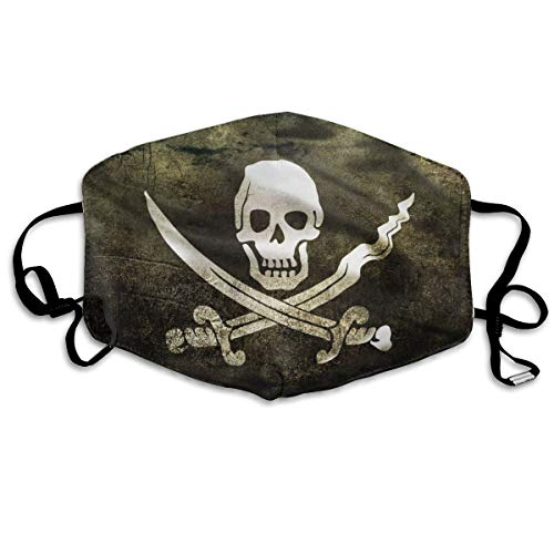 YUIOP Pirates Flags Skull Crossbones Printed Mask Neutral Mask for Men and Women Polyester Dust-Proof Breathable Mask (Best Antivirus For Pirates)