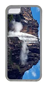 thinnest case The world highest waterfall angel falls venezuela TPU Transparent Case for iphone 5C