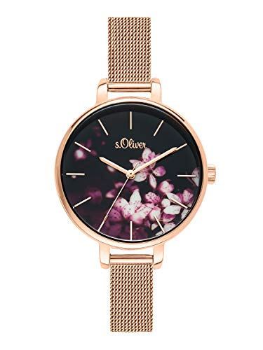 s.Oliver Time Womens Analogue Quartz Watch with Stainless Steel Strap SO-3592-MQ