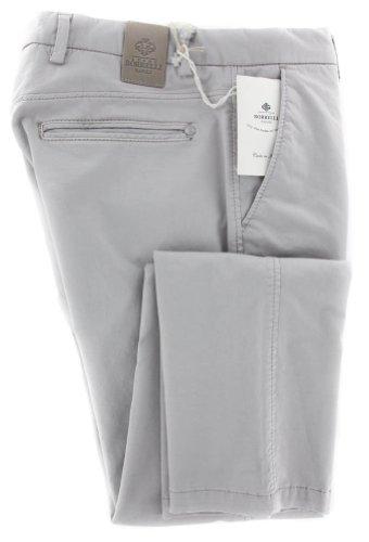 new-luigi-borrelli-beige-solid-pants-super-slim-34-50