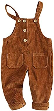 Newborn Infant Baby Boys Girls Corduroy Halter Cargo Pants