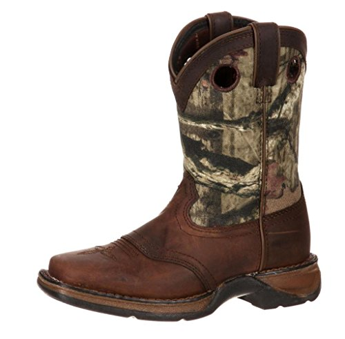 Durango Unisex-Kids DBT0121 Western Boot, Distressed Brown/Camo, 5.5 M US Big Kid (Leather Kids Distressed)