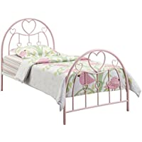Coaster Home Furnishings 460079 Casual Twin Bed, Pink