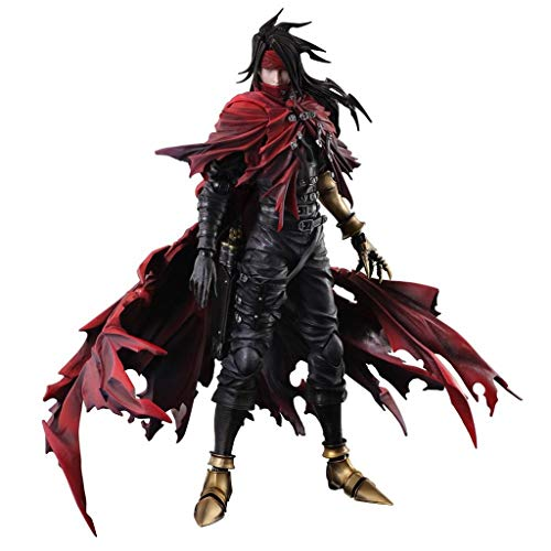 Siyushop Final Fantasy Dirge of Cerberus Vincent Valentine Play Arts Kai Action Figure - Vincent Action Figure - Equipped with Weapons and Replaceable Hands - High 27CM
