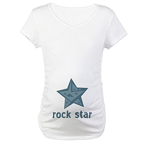 CafePress - Rock Star Maternity T-Shirt - Cotton Maternity T-shirt, Cute & Funny Pregnancy Tee (Star Rock Maternity T-shirt)