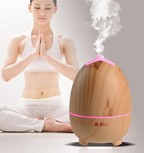 Aromatherapy Essential Oil Diffuser Cool Mist Humidifier Ultrasonic With Adjustable Mist Mode Auto Shut-Off Timing Feature LED Light Changing Colors Perfect For Home,Office,Living Room,Spa,Car by L&X (Image #4)