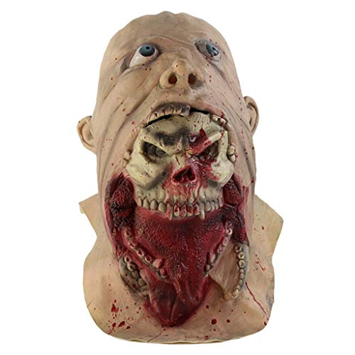 Upaking Halloween Funny Horror Face Mask-Devil Zombie