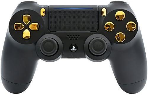Controlador Modular PS4 Pro de Color Negro y Dorado para Control de Disparo rápido Personalizado, 40 Modos para Todos los Juegos de Disparo Principales y más (CUH ...