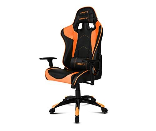 Drift DR300BO - Silla Gaming Profesional, (Polipiel Alta Calidad, Ergonomica), Color Negro/Naranja