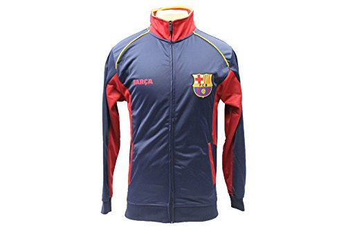 (Barcelona FC Track Jacket Soccer Adult Sizes Football Official Merchandise (XL))