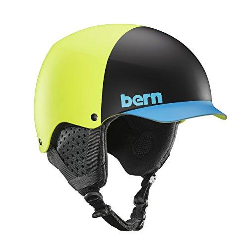 Bern Baker Snow Helmet (Matte Neon Yellow Hatstyle with Black Liner, Small) (Bern Yellow Helmet)