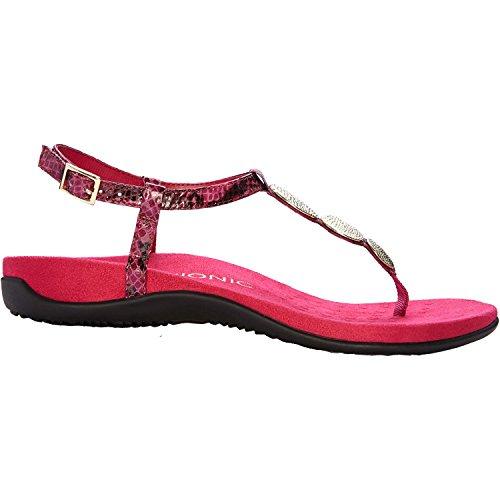 Vionic Lizbeth Womens T-strap Orthotic Sandal Raspberry S...