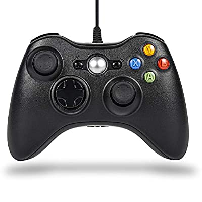 Xbox 360 Controller PC Wired Game Console Sefitopher for Microsoft Xbox360 / Xbox 360 Slim / PC Windows 7 8 10 Steam with Dual Vibration ?Improved Ergonomic and Shoulders Buttons USB Gamepad