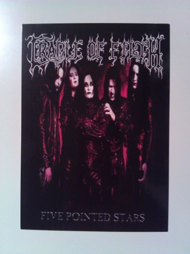 Cradle of Filth Rock Music Band Postcard - Five Pointed Stars Band Postcard