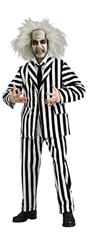Beetlejuice Family Halloween Costume (Beetlejuice Grand Heritage Collection Deluxe Costume, Black/White,)