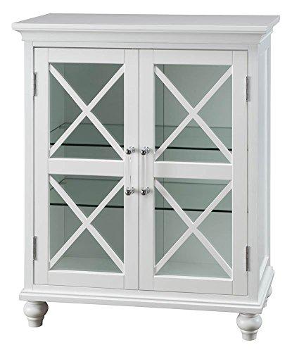 Blue Ridge 2-Door Floor Cabinet in White by Elegant Home Fashions