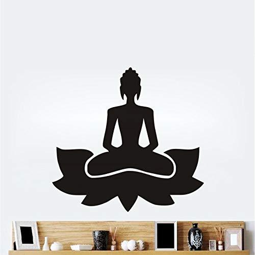 jiushivr Meditar Yoga Lotus Pose Vinilo Tatuajes de Pared ...