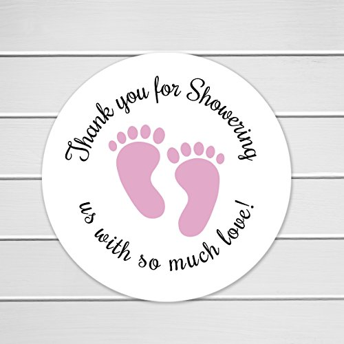 Baby Shower Stickers, Thanks for Showring us, Girl Boy and Gender Neutral Shower Stickers (#371) - Shower Baby Labels