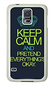 Keep Calm 46 PC White Hard Case Cover Skin For Samsung Galaxy S5 I9600