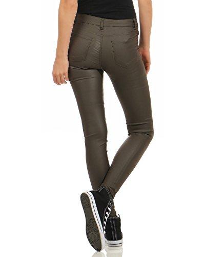 Da A Vita Ecopelle Donna Zarmexx In Per Jeans Olive Aderenti Pantaloni Bassa Bqpx4n4C