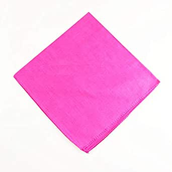 Unisex pink cotton bandana scarf handkerchief