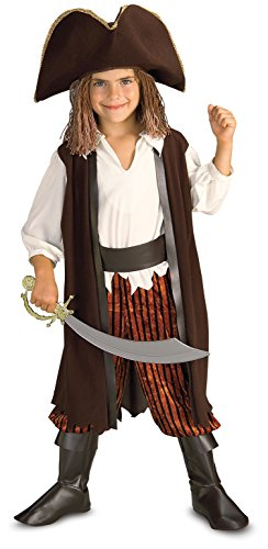 Rubies Caribbean Pirate Complete Costume, Small (Jack Sparrow Boys Costume)