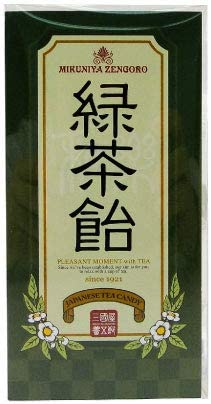 三國屋善五郎 緑茶飴 18個入 お茶 日本茶 煎茶 飴 あめ キャディー