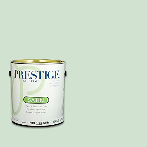 Prestige, Greens and Aquas 4 of 9, Interior Paint and Primer In One, 1-Gallon, Satin, Shadowed (Meadow Green Satin)