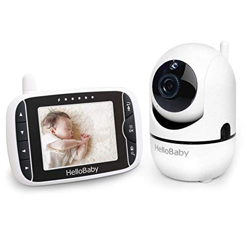 - Hello Baby-US HB65 Baby Monitor with Remote Pan-Tilt Digital Zoom Camera and 3.2'' LCD Screen, Black