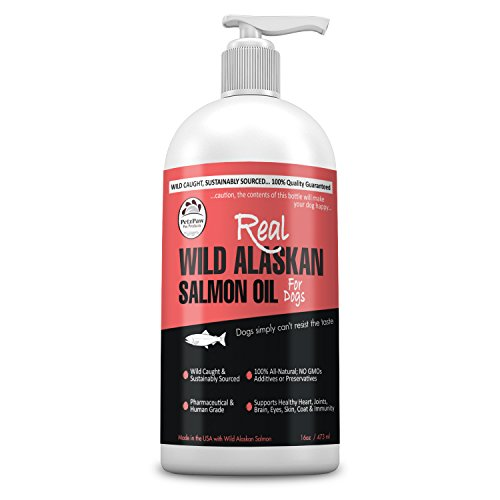 PetzPaw Pet Products Wild Alaskan Salmon Oil for Dogs - Omega 3 for Dog and Cat