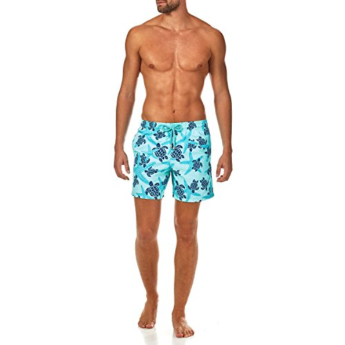 Vilebrequin Starlettes & Turtles Swim shorts - Men - lagoon - XXL by Vilebrequin