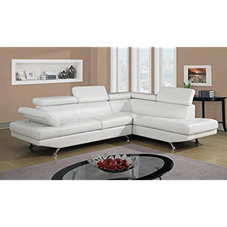 Home Source U 63000 SL Laf Raf Chaise Sofa White