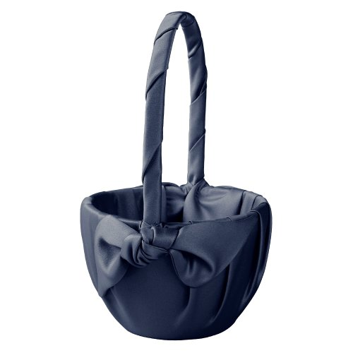 Ivy Lane Design Love Knot Flower Girl Basket, Navy