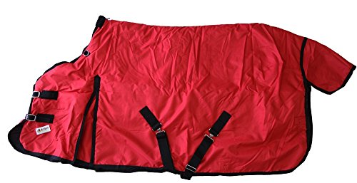 600D Medium Weight Horse Turnout Blanket Water Proof Ripstop Red 78 (Weight Medium Turnout)