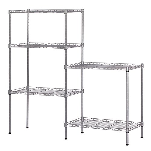totoshop New Heavy Duty 5Layer Wire Shelving Rack Adjustable Shelf Storage Silver 60''x22''x12'' by totoshop