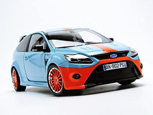 Minichamps PM100080068 Ford Focus RS 2010 Gulf Ford MK.IV 1968 Tribute 1:18