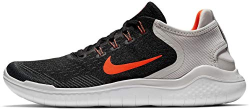 Nike Men's Free RN 2018 Black/Total Crimson-Vast Grey-White Running Shoes (10 D(M) US)