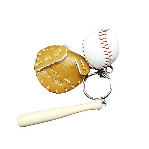 Nikgic 1pc Llavero de béisbol creativo Pequeño colgante de ...