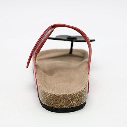 Sandals Red Flops Mickey Comfort Disney Flat Mouse Dote Flip TAOFFEN Women PqxzvwwT7