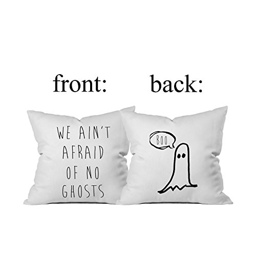 Am By Baby Motion Bed (Oh, Susannah Halloween BOO We Ain't Afraid of No Ghosts Throw Pillow Cover (1 18X 18 inch, Black))
