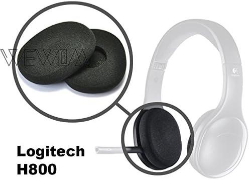 WEWOM 2 Coussinets de Remplacement pour Casques Logitech H800