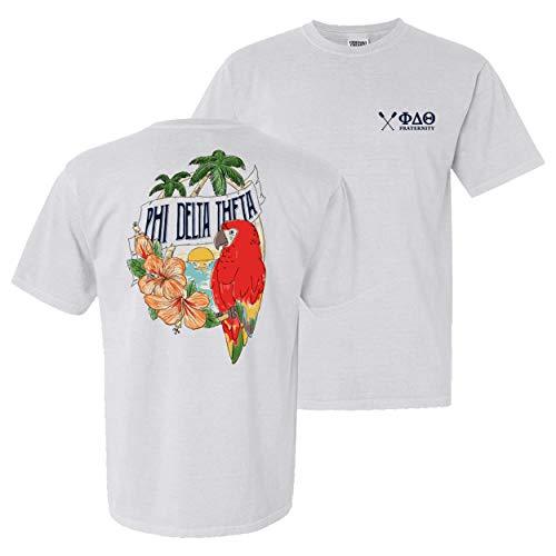 (Phi Delta Theta Fraternity Greek Comfort Colors Tropical Tee Phi Delt White)
