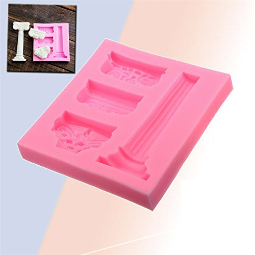 Marble Pillar Fondant Cake Molds Chocolate Mould Roman Column Relief for the Kitchen Baking Sugarcraft Decoration Tool