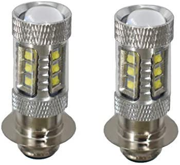 100w LED Headlights Bulbs Super White 6500K For Honda Rancher 350 400 Recon 250